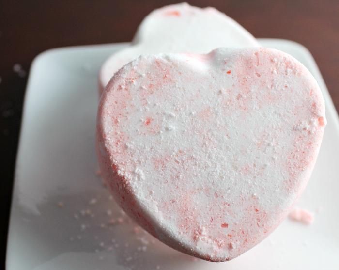 Heart Shaped Bath Fizzies
