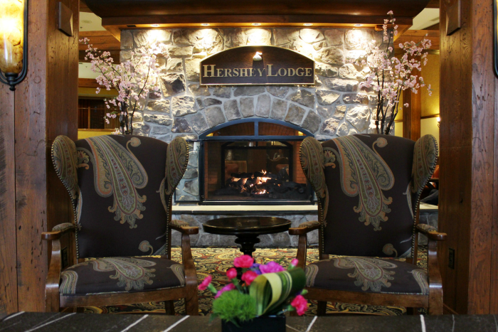 Hershey Lodge fireplace