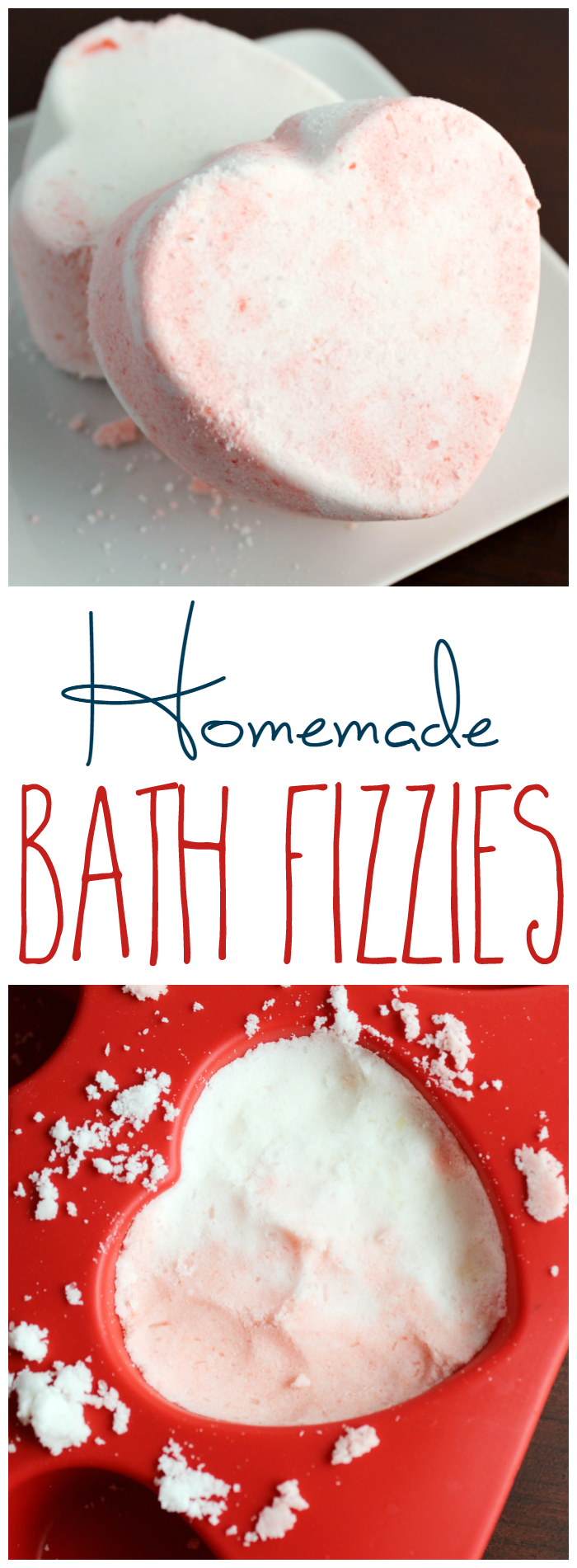 Bath bombs or bath fizzies are pretty easy to put together and definitely cheaper than buying from a store! You can customize these homemade bath fizzies however you want!