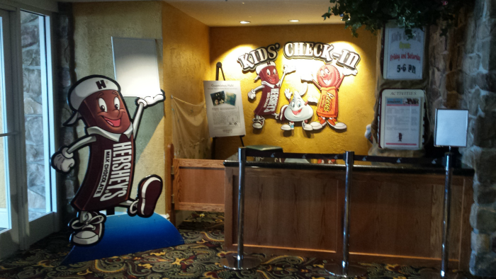 Kids' Check-In at Hershey Lodge