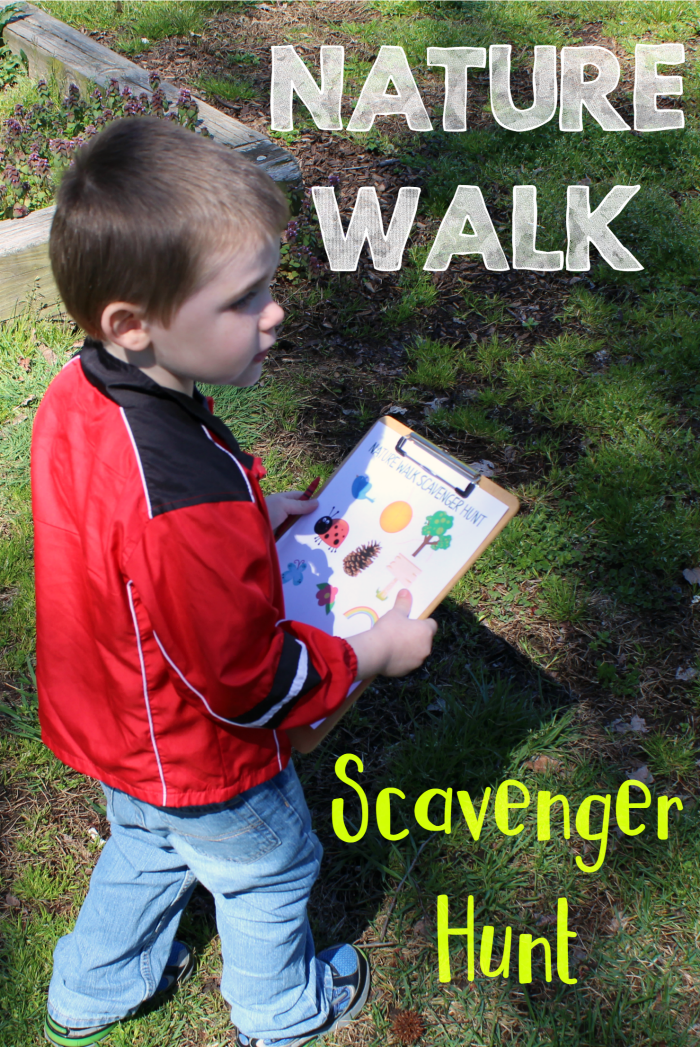 Kids need to be free to be kids! Print our free Nature Walk Scavenger Hunt and get exploring! Don't worry about the mess!