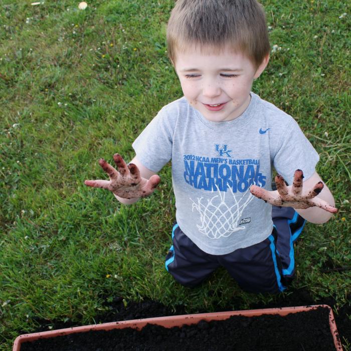 Playing in the dirt - Gardening fun