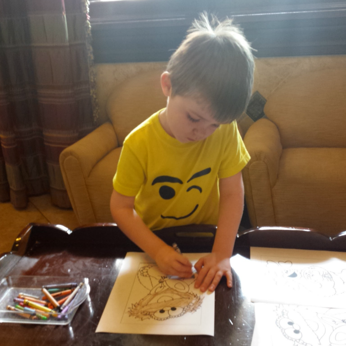 coloring at Beaches Check-in
