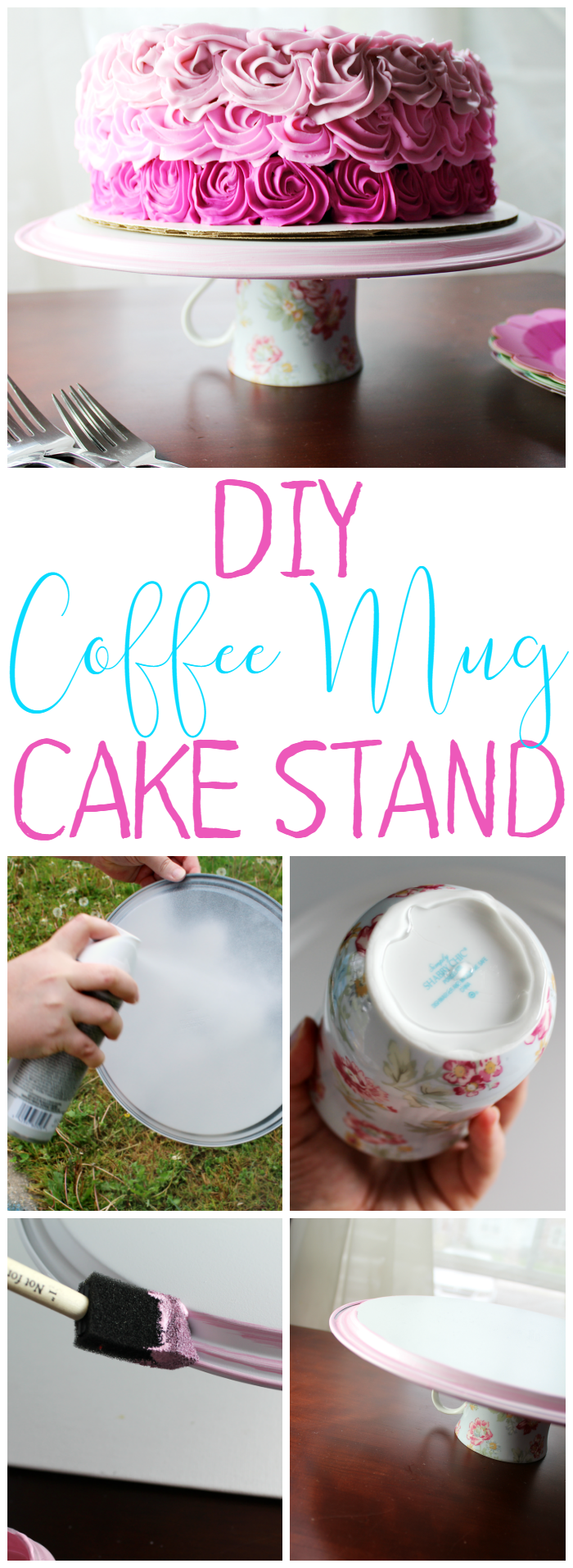 DIY Coffee Mug Cake Stand is easy to make and will make a great gift!