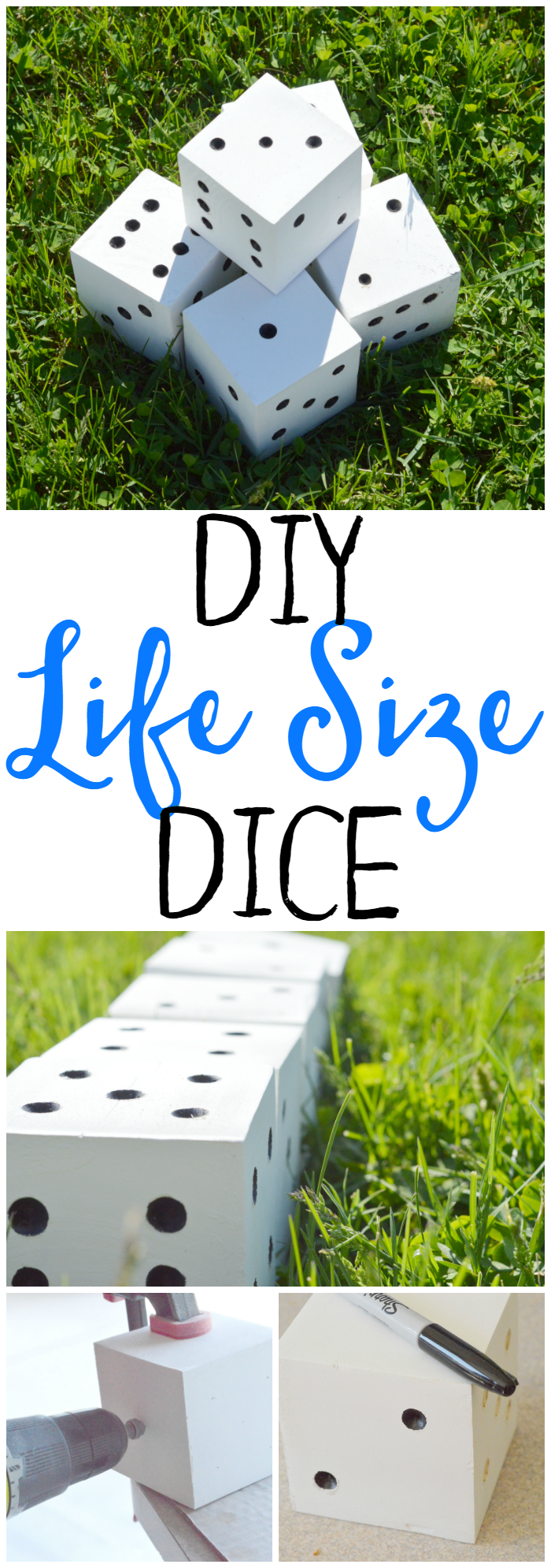 These DIY Life Size Dice are great for any game that involves dice! They are easy to make and perfect for kids, families, youth groups, etc.