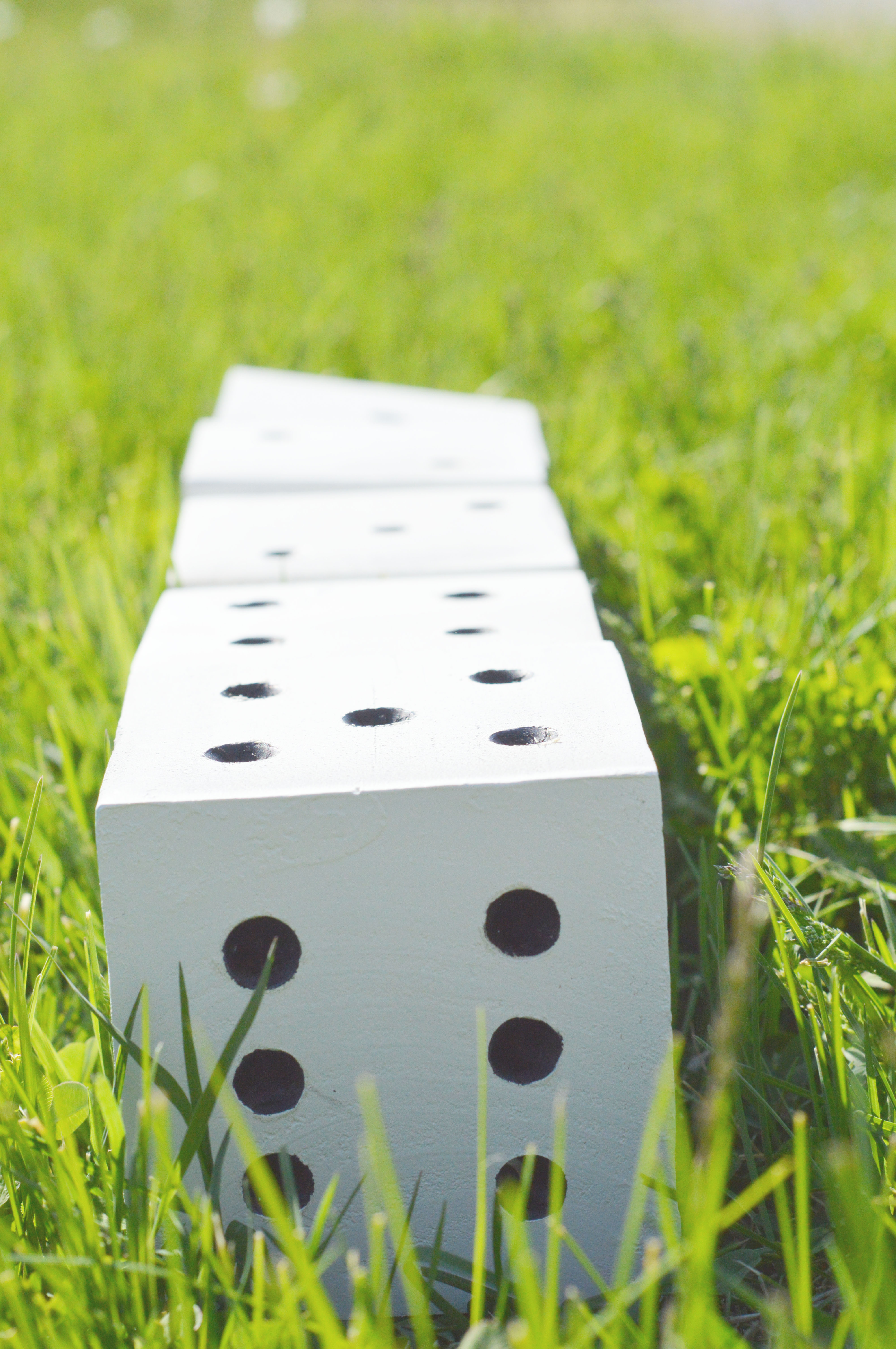 DIY Yard Dice - These DIY Life Size Dice are great for any game that involves dice! They are easy to make and perfect for kids, families, youth groups, etc.