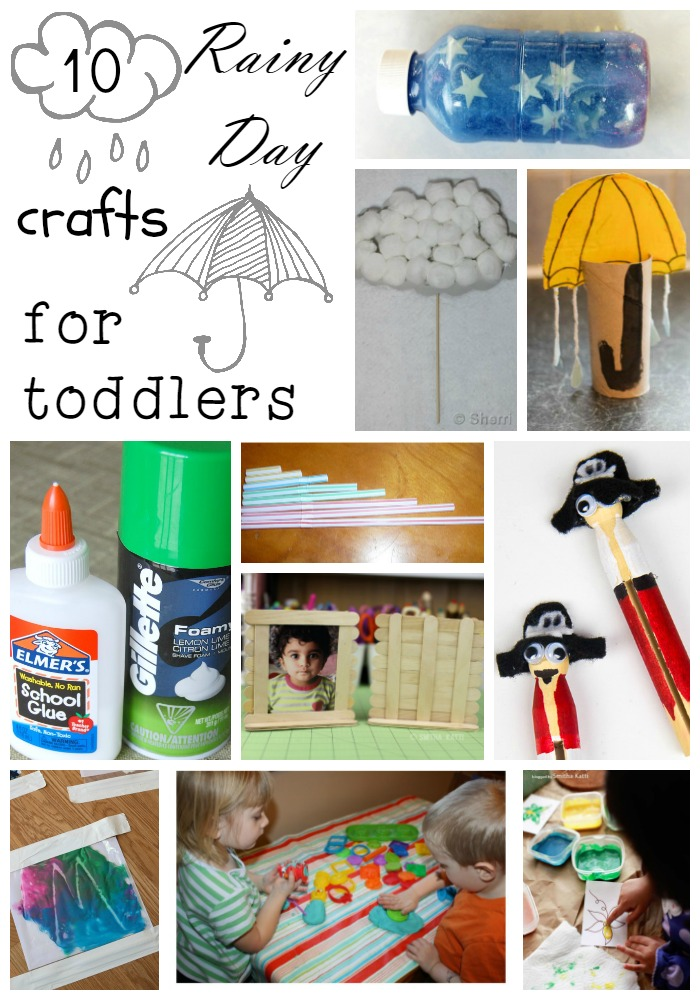 Rainy Day Crafts for Toddlers - Crafts that are perfect for toddlers to do on a rainy day!