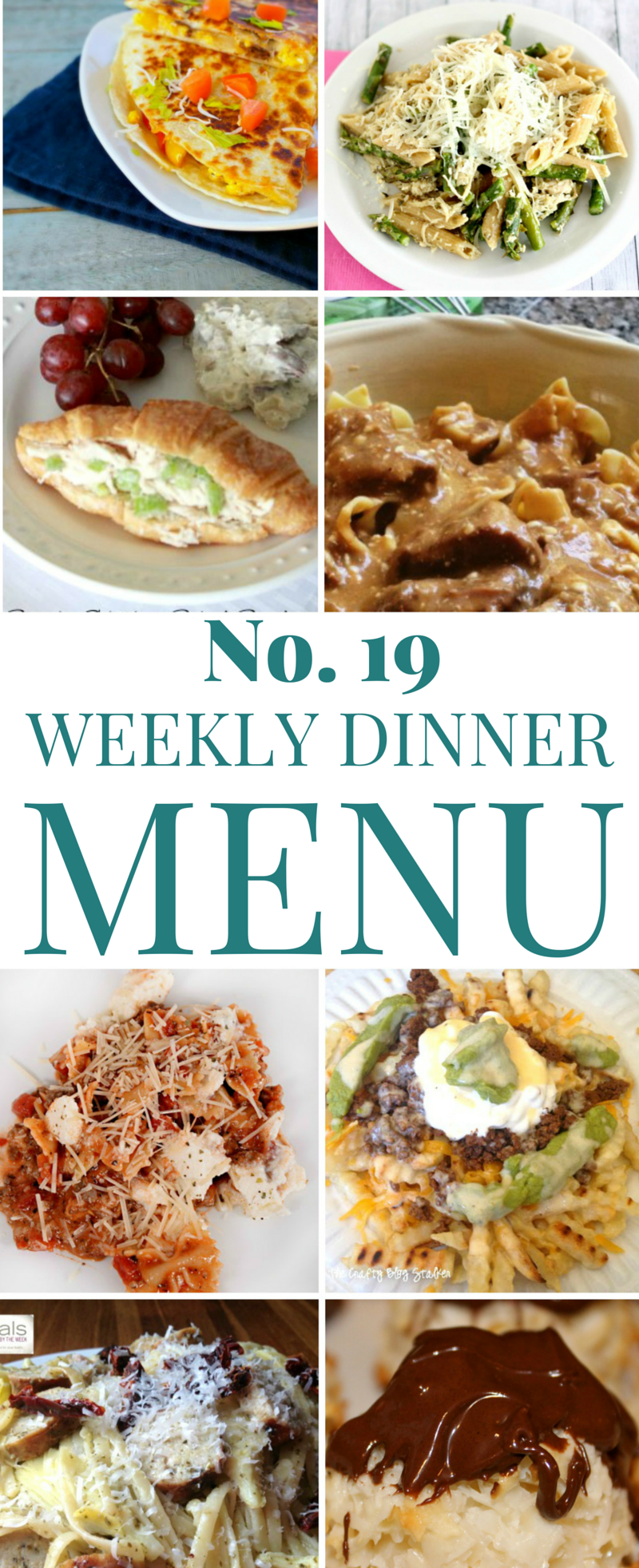 Weekly Dinner Menu 19