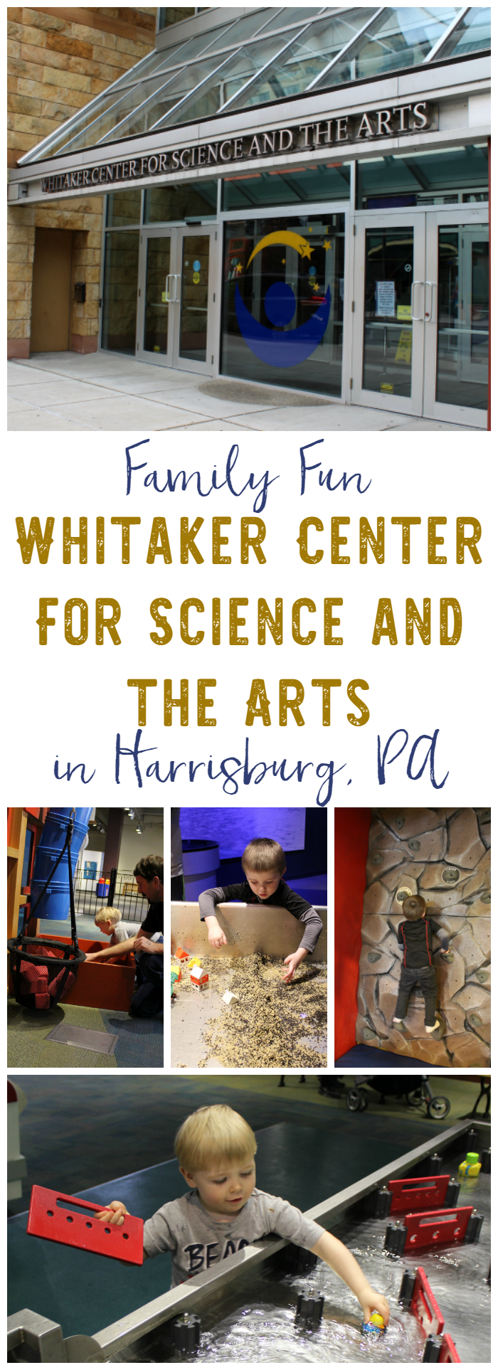 The Whitaker Center in Harrisburg, PA is a science center, theater, and cinema in one! Fun for the entire family!