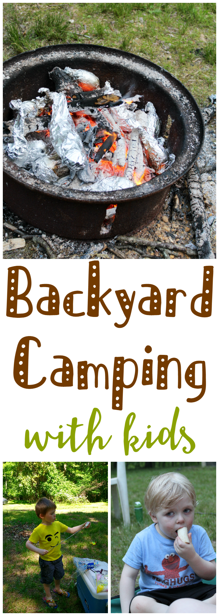 Backyard Camping with Kids - You do not have to travel far or spend a lot of money for a family camping adventure. Check out these tips for backyard camping!
