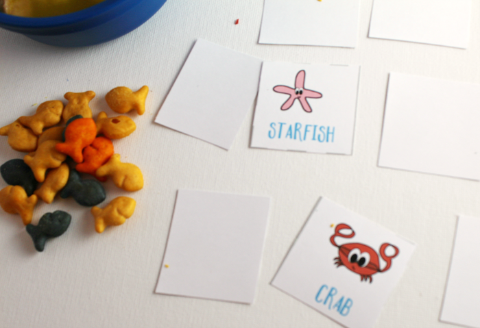 Goldfish with Ocean Memory Game