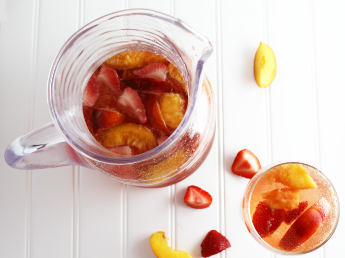 Nectarine and Strawberry Tequila Sangria