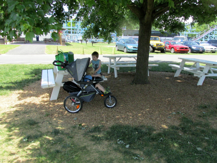 Picnic area at Dutch Wonderland