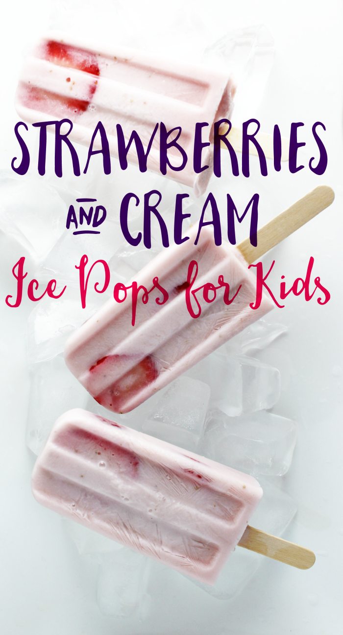 The kids love these special Strawberries and Cream Ice Pops that I made for them. And of course, I love knowing that there are important nutrients that are essential for them inside this yummy treat.