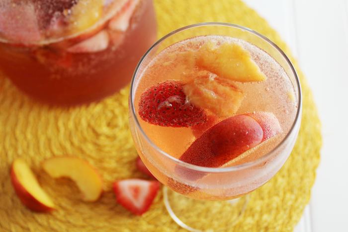 Strawberry Nectarine Sangria