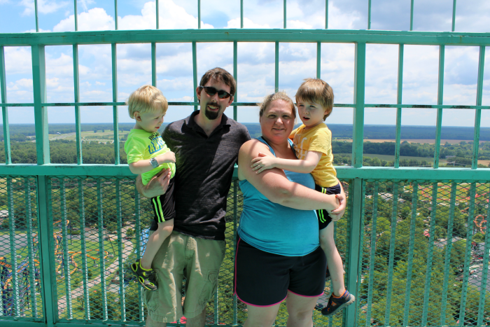 Kings Dominion Eiffel Tower Family Photo