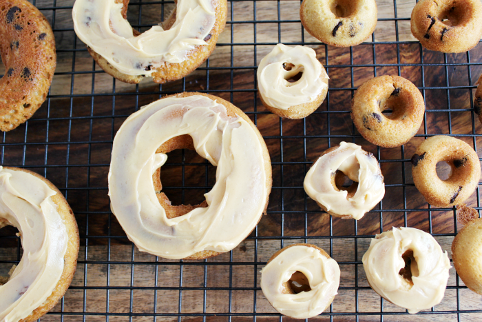 Peanut Butter Frosting on Donuts