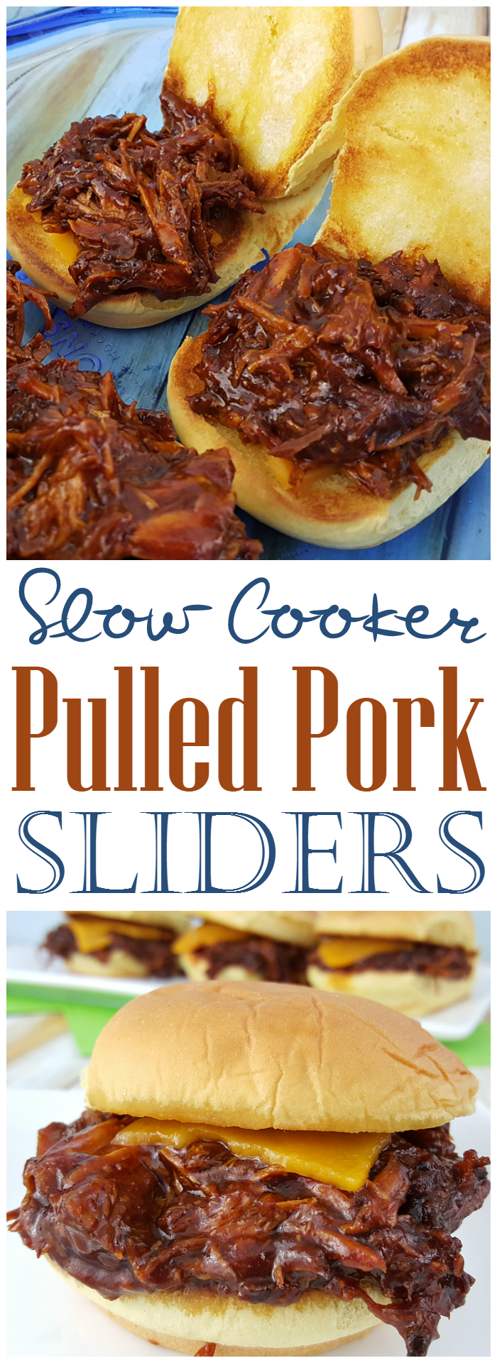 Slow Cooker Pulled Pork Sliders - Pulled Pork Sliders are perfect for an easy meal for your family for dinner, something to make for company coming over, or a dish to bring with you to a party!