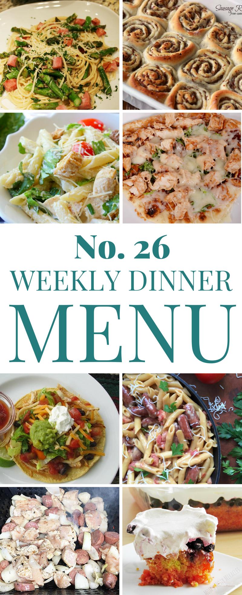 Weekly Summer dinner ideas Menu 26