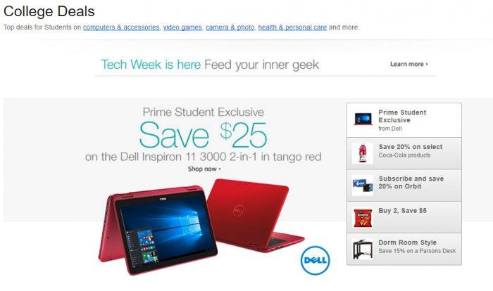 Amazon Prime Student College Deals
