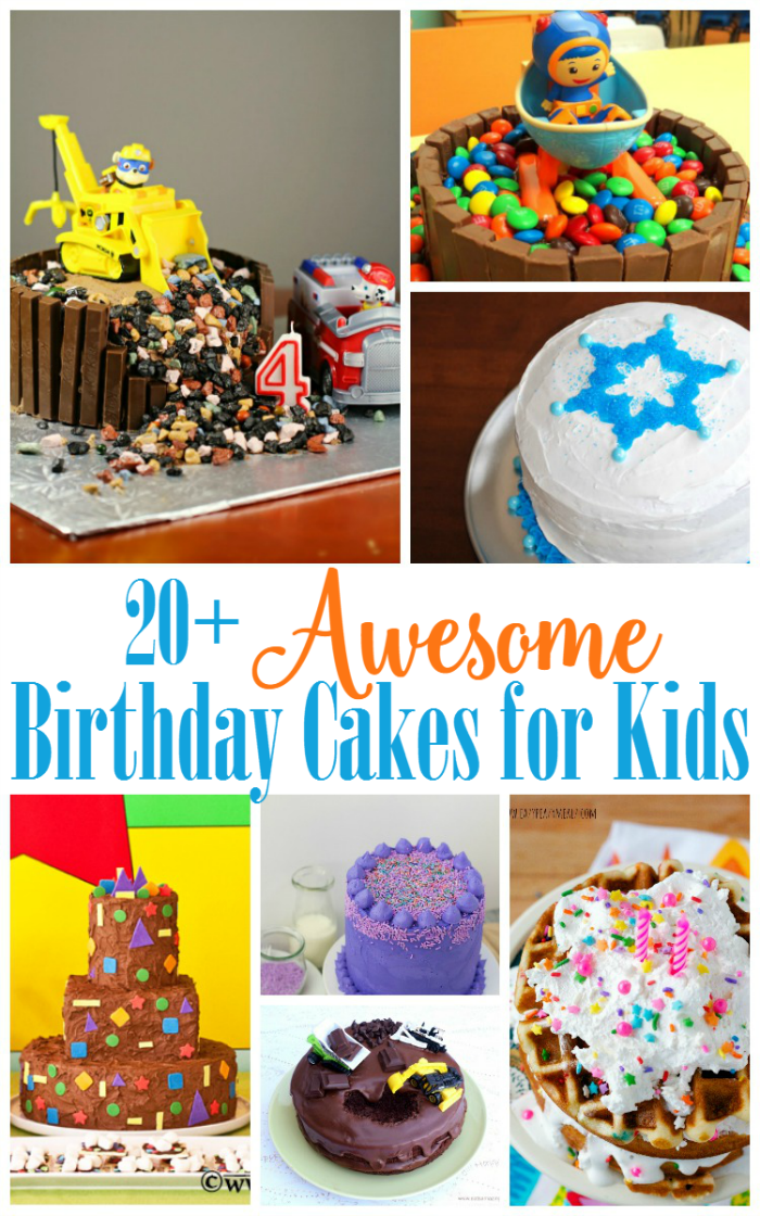 Awesome birthday cakes for kids that are perfect for your next birthday party!