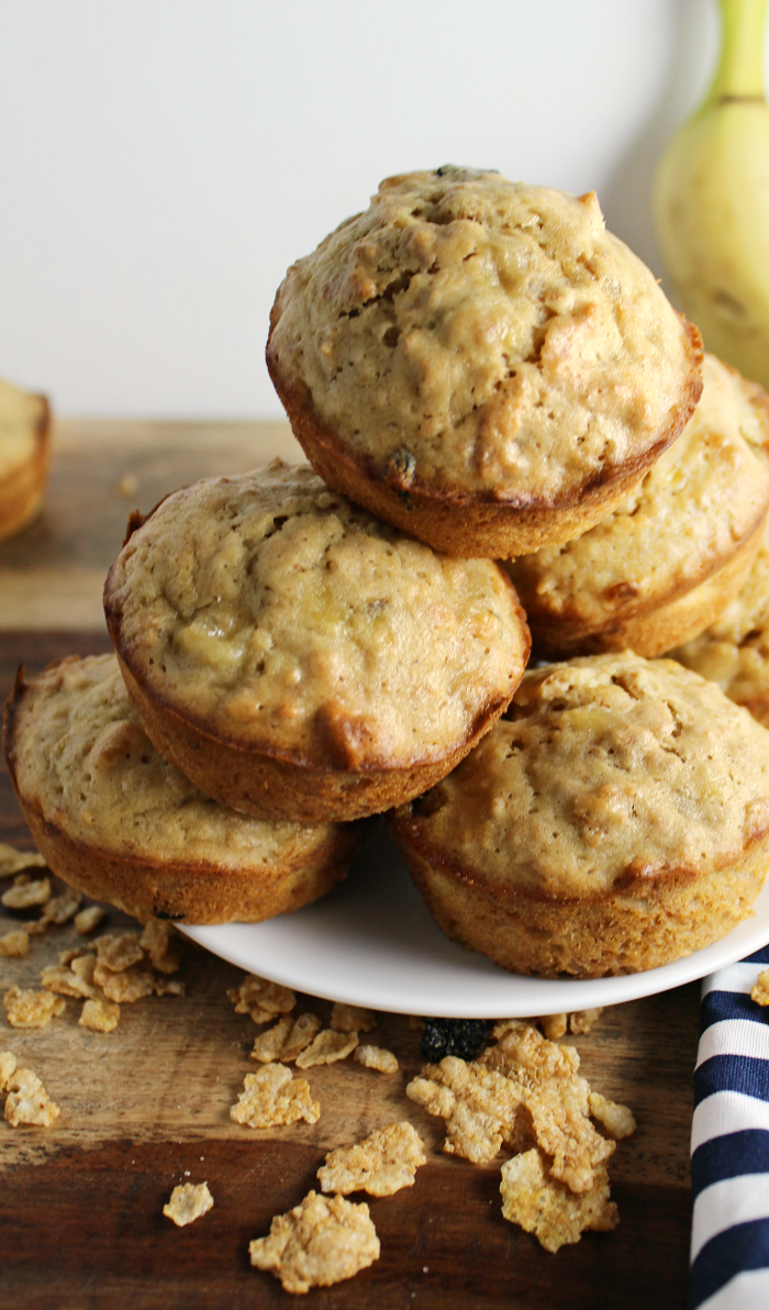 Banana Cereal Muffins make a great breakfast, afternoon snack, or sweet treat before bed.