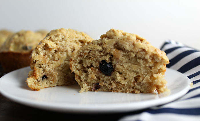 Banana Muffins with Blueberry Grains Cereal