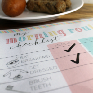 Ad: Printable Morning Checklist for Kids