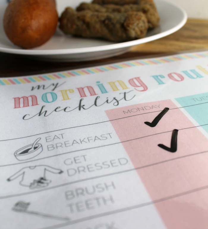 Breakfast on Morning Checklist