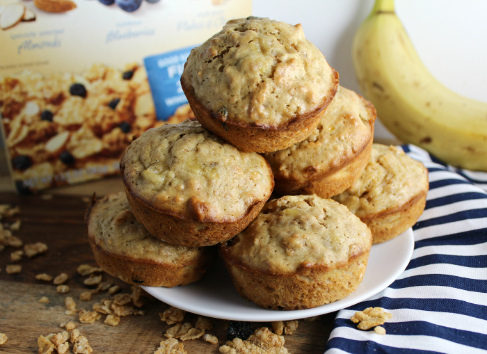 Cereal and Banana Muffins