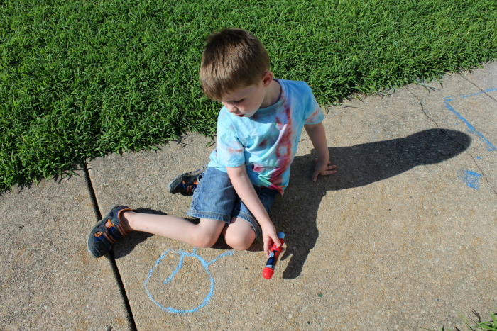 Coloring with Sidewalk Chalk