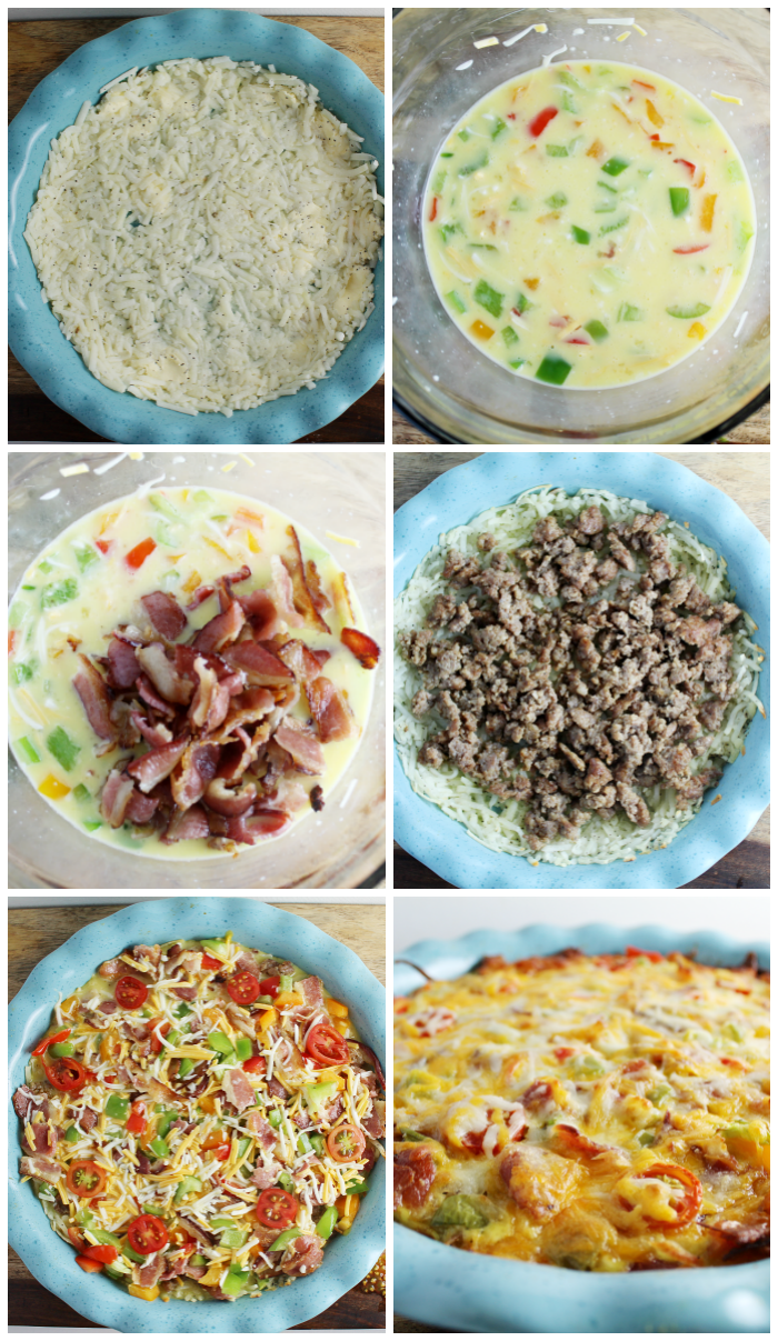 Country Breakfast Pie Process