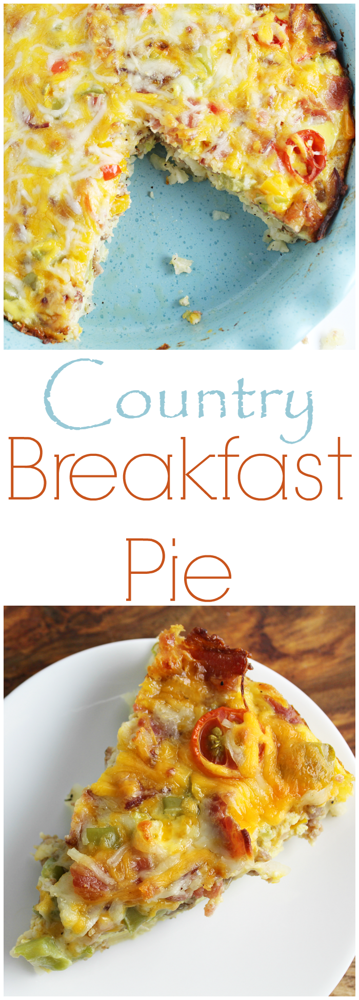 Country Breakfast Pie is a filling breakfast that looks fancy, but is easy to put together.