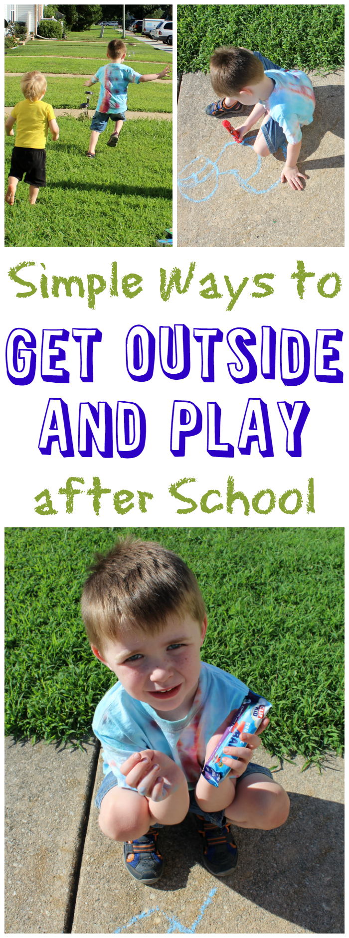 It's important to get outside and play after school! Let the kids get some energy out with these simple ways to do just that!