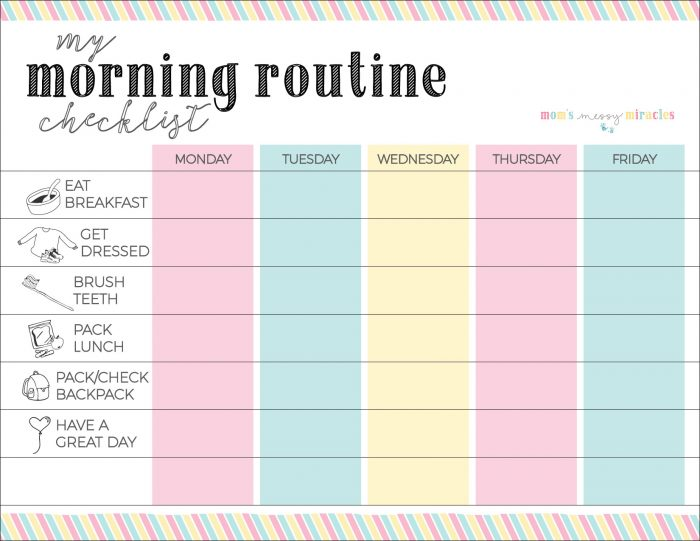 Morning Routine Checklist