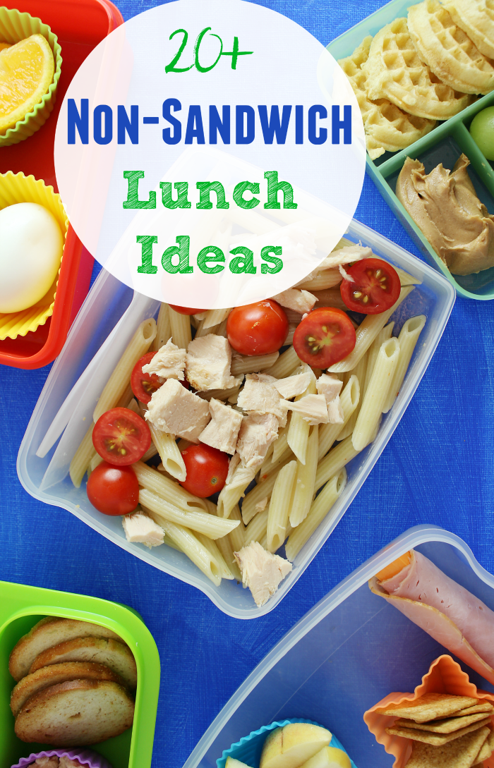 Everyone gets tired of eating sandwich after sandwich! We're sharing over 20 non-sandwich lunch ideas to pack in the lunchbox!