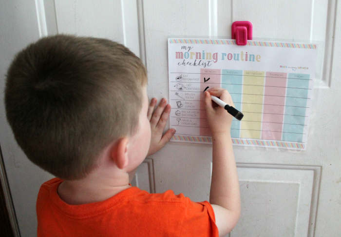 Using Morning Routine checklist for kids