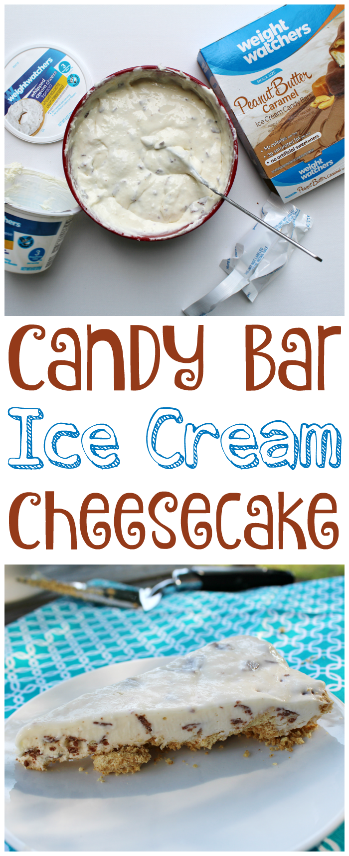 Candy Bar Ice Cream Cheesecake