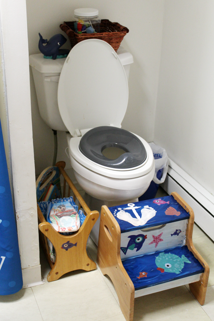 Kid Bathroom Potty Corner