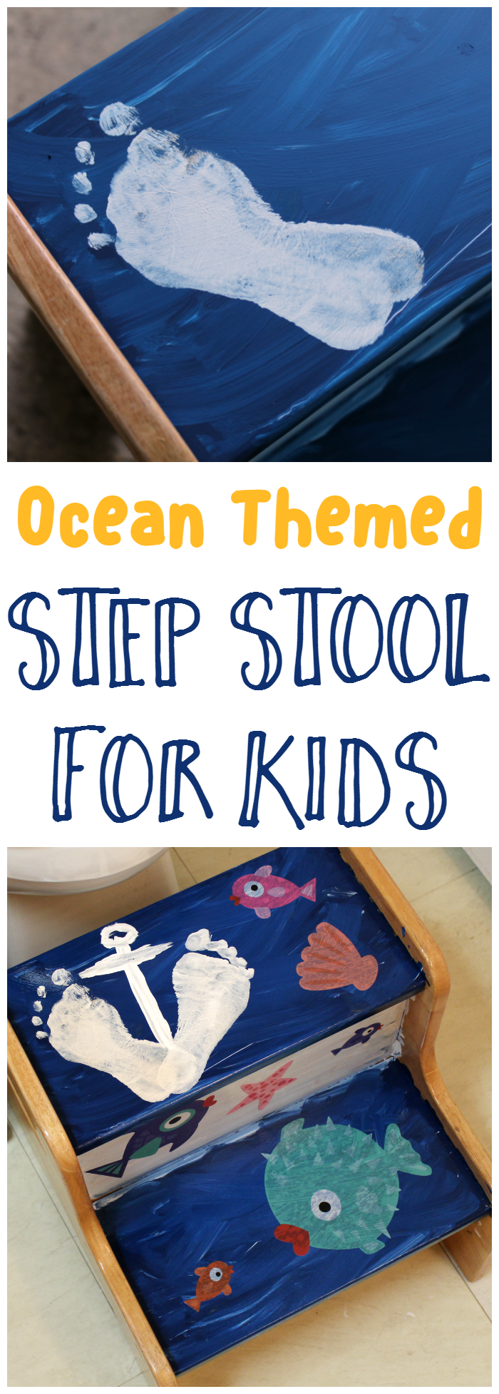 Ocean Themed Step Stool for Kids