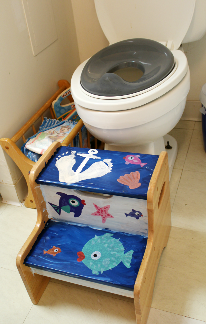 Potty Corner Ocean Themed Kids Bathroom