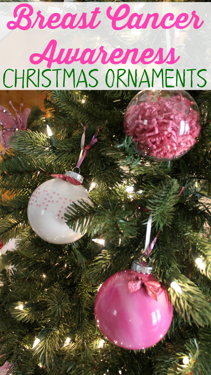 Add some Breast Cancer Awareness to your Christmas Tree this year with these easy homemade ornament ideas.