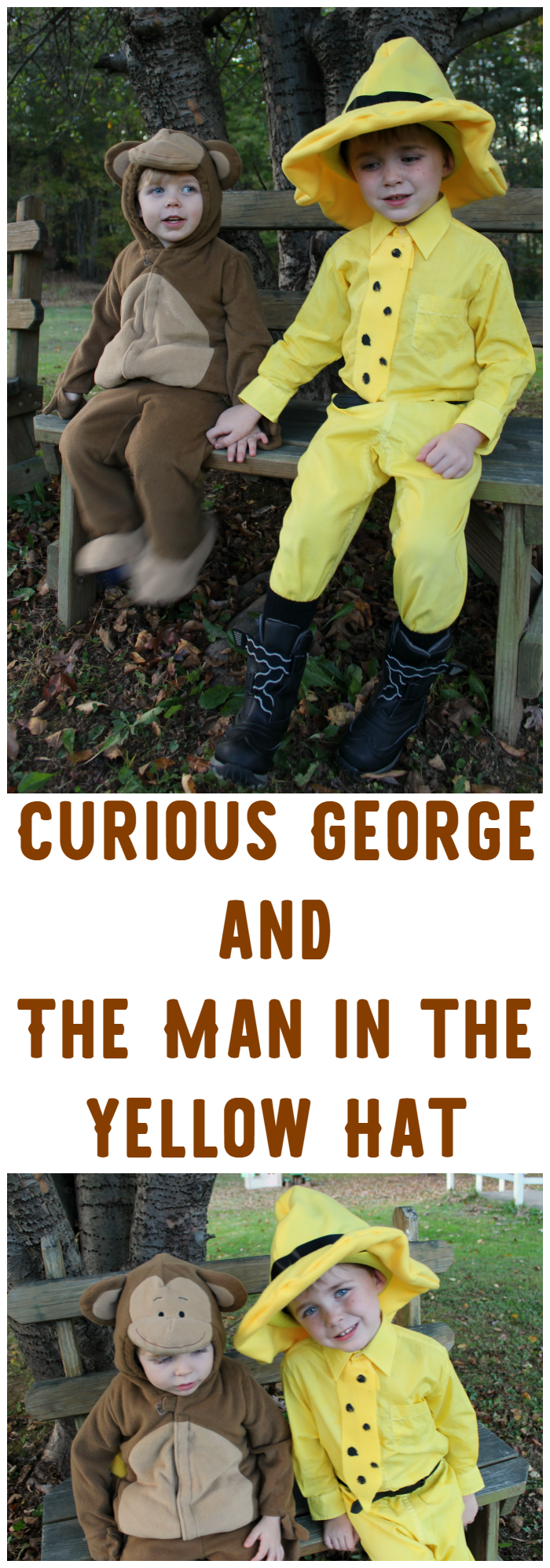 If your kiddos love Curious George as much as mine do, they'll totally love this Halloween costume idea!