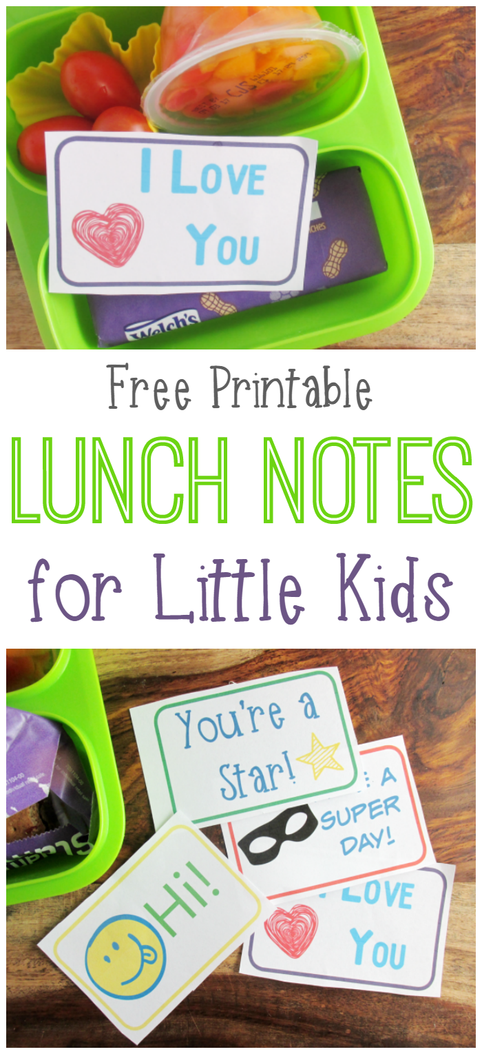 Use these free printable lunch notes for your little kids! It's a perfect surprise to keep them going!