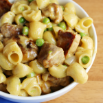 Mac & Cheese with Pork and Peas