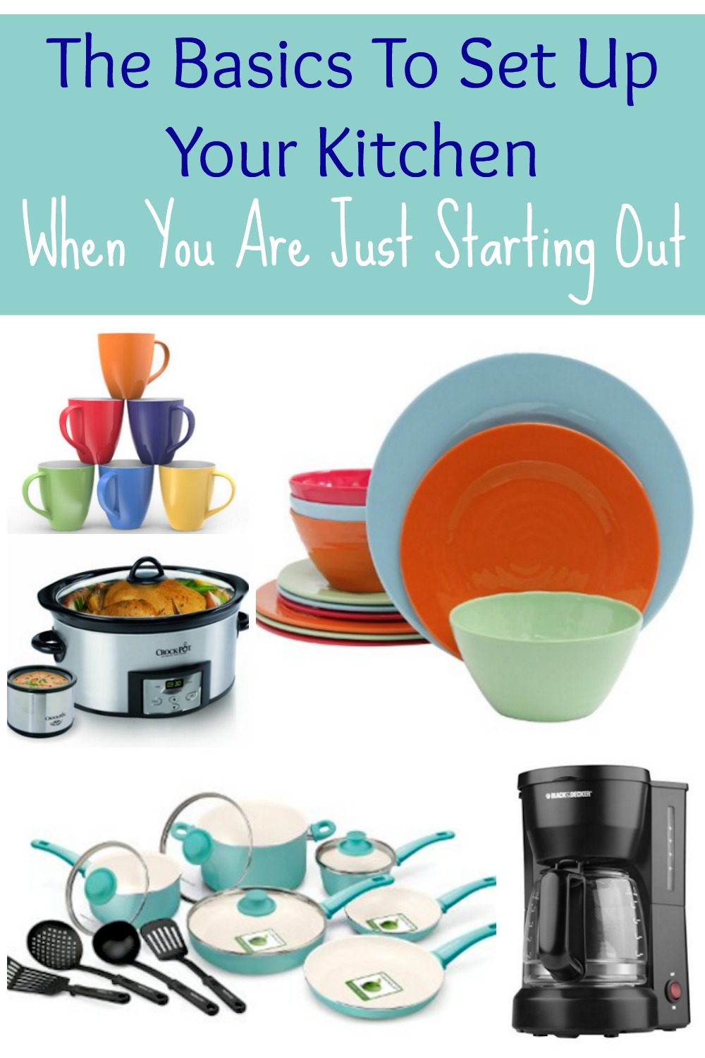Here are the basics to set up your kitchen when you are just starting out!