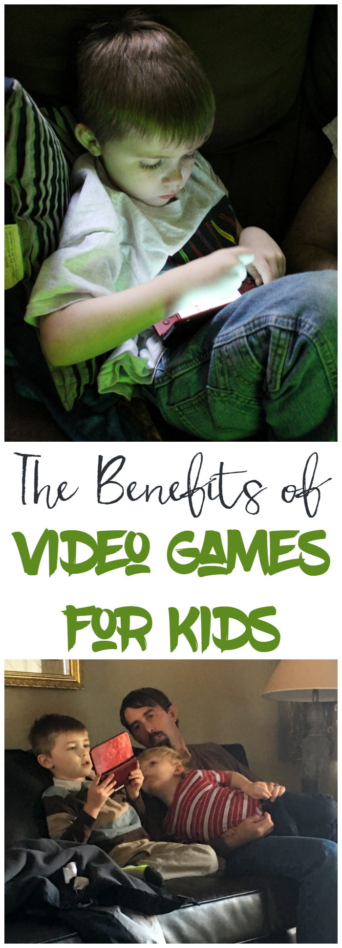 Video games are not all bad for kids! There are definitely benefits to kids playing video games.