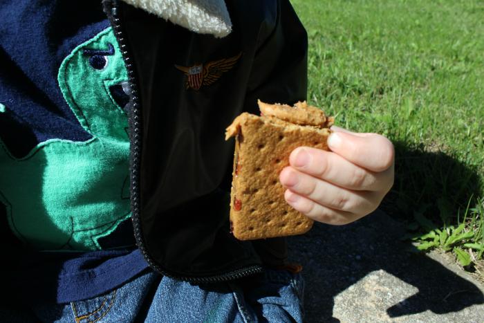 snacking-on-welchs-grand-slam-pbj