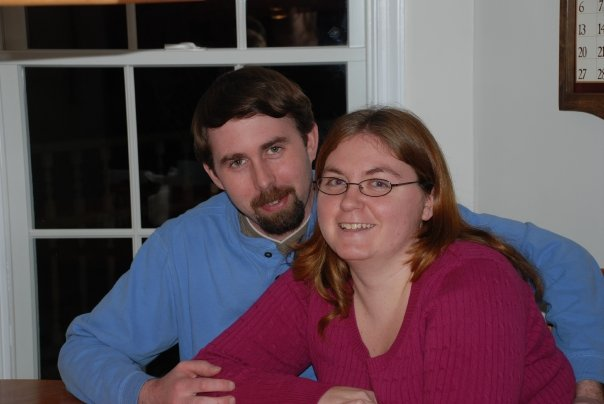 Here's a little throwback to Christmas of 2009 with Tom and I sitting around my Aunt and Uncle's table.