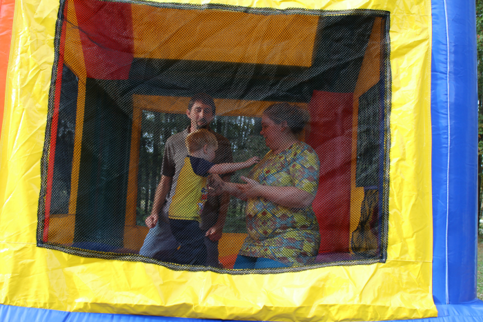By the end of the day, everyone played in the bounce house!
